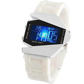 SPORTWATCHES Relojes Hermosos, Moda LED Reloj Digital con Estuche de diseño Especial (Color : Blanco): Amazon.es: Deportes y aire libre