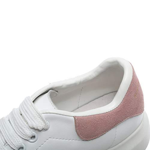 Bianco Outdoor Ginnastica Piattaforma da Sneaker Leggera Comoda rosa Bianco Platform Donna YORWOR con Suola Basse Scarpe qgwAfASH