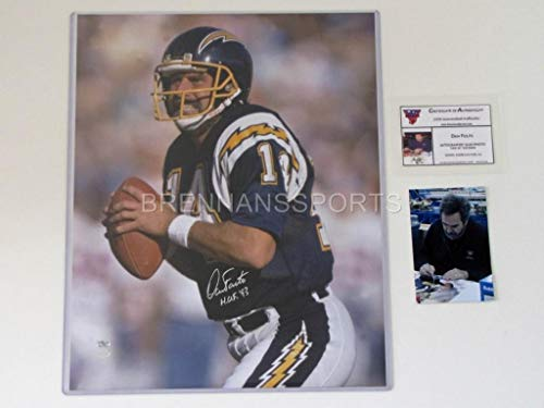 Dan Fouts Chargers Autographed Signed Auto Hof 93 16x20 Photo Gtsm ()