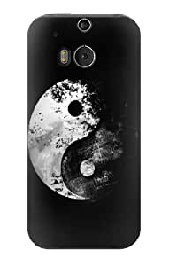 S1372 Moon Yin-Yang Case Cover For HTC ONE M8