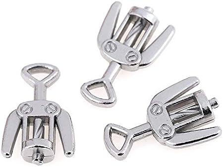 Sacacorchos3 Unids/Set Abrebotellas De Vino De Metal Sacacorchos Para 1/12 Barra De Cocina Decoración En Miniatura Muebles De Casa De Muñecas Juguete