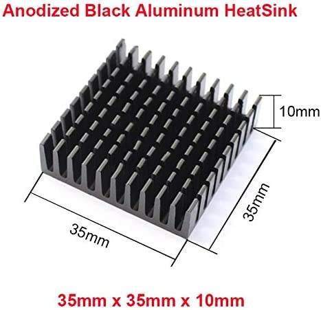 Rarido En-Labs 2pcs//lot Anodized Black Aluminum Heatsink 35x35x10mm Chipset Radiator Cooler Southbridge Northbridge IC,3W LED Cooling Blade Color: 35X35X10 w 3M9448A