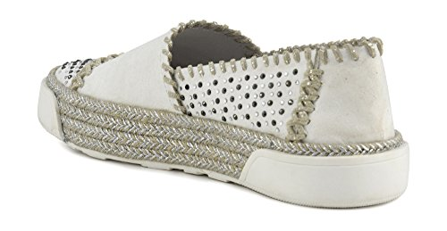 Eh920 Platform Slip Donna Cafè Scarpe Sneakers Cafènoir Ghiaccio Corda Bianco On Noir qfEwxn0p