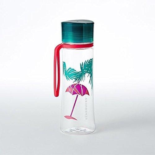 Starbucks Water Bottle 18oz Beach Collection Umbrella and Palms Water Bottle, 18 fl oz
