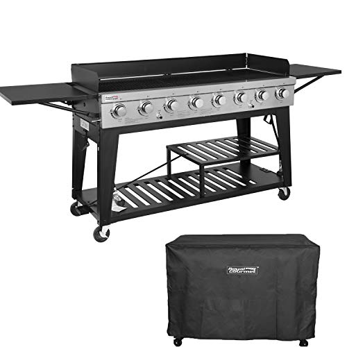 Outdoor Commercial Grill - Royal Gourmet Event 8-Burner BBQ Propane Gas Grill with Cover, Picnic or Camping Outdoor