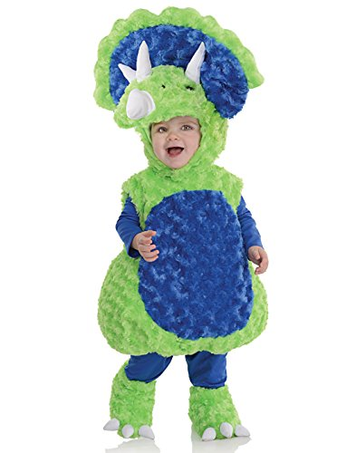 Underwraps Toddler's Triceratops Belly Babies Costume, Green/Blue, Medium (18-24) for $<!--$25.35-->
