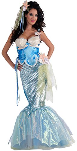Under The Sea Costumes For Sale (Forum Novelties Women's Deluxe Adult Mermaid Costume, Multi, Medium/Large)