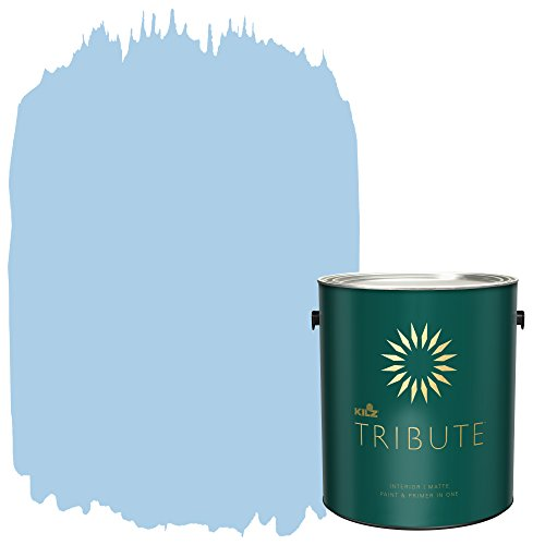 KILZ TRIBUTE Interior Matte Paint and Primer in One, 1 Gallon, Sea Balm - Bedroom Paint