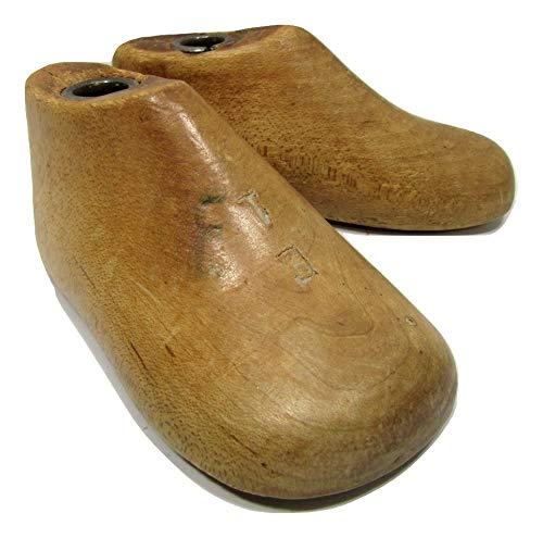 Childrens INFANTS Vintage Wood Wooden Pair Shoe Lasts Molds Cobbler Size 1 E Wii Unknown