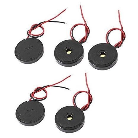 eDealMax 5 Pcs DC 1-30V 90 dB de sonido electrónicos pasivos ...