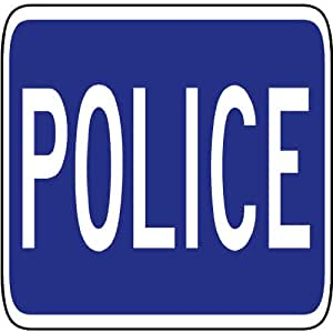 amazoncom street amp traffic sign wall decals police