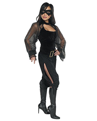 [Sexy Superhero Theatre Costumes Womans Masked Bandit Costume Sizes: Small] (Masked Bandit Costume)