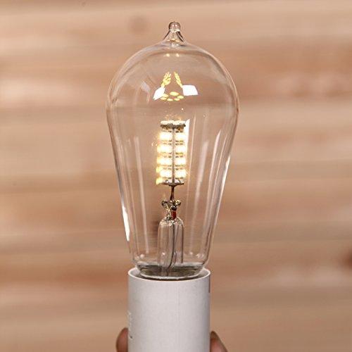 Light Loft 4 (Injuicy Lighting Pack Of 4 LOFT E27 Edison LED Corn SMD Bulb Light 3W Clear Glass ST58 360 Degree 110V OR 220V)
