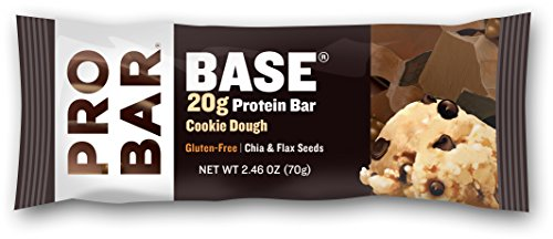 Cookies Sports Organic (PROBAR - BASE 2.46 Oz Protein Bar, Cookie Dough, 12 Count - Organic, Gluten-Free, Plant-Based Whole Food Ingredients)