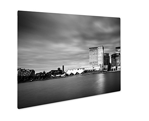 Ashley Giclee Metal Panel Print, Long Exposure Of Skyscrapers In Harbor East Seen From The Inner Harbor In, 8x10, - Gallery Harborplace & The