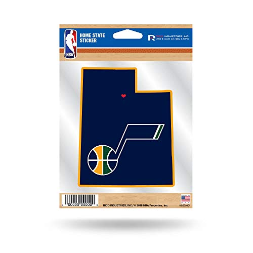 (Utah Jazz Home State Sticker Flat Die Cut Decal Emblem Auto Home Basketball)