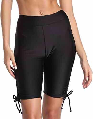 7fea034970fb7 Tournesol Women's Swim Shorts High Waist Boy Shorts Boardshorts Beach Bikini  Tankini Swimwear Boy Leg Bottoms