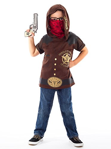 Obi Wan Kenobi Revenge Of The Sith Costume (Little Adventures Wild West Cowboy Hooded Vest Costume & Accessory Sets for Boys - L/XL (5-7 Yrs))