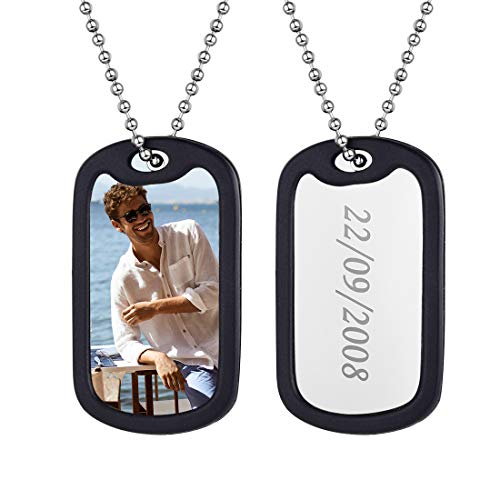U7 Customized Photo Necklace Personalized Men Women Dog