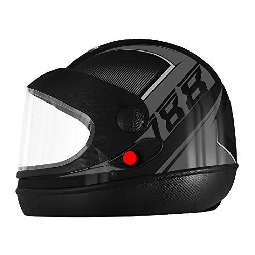 Pro Tork Capacete Super Sport Moto 2019 Fosco 60 Preto/Grafite