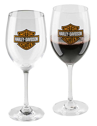 Harley-Davidson Core Bar & Shield Logo Wine Glass Set - 19 oz. HDX-98708