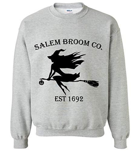 Halloween Salem Broom co est 1692 Gift Idea Sweatshirt Adult and Youth Size