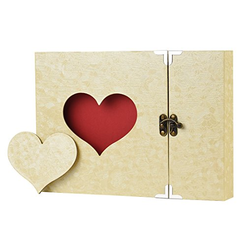 Scrapbook Firbon Handmade DIY Family Album with Bonus Gift Box for Christmas, Valentines Day, Birthday and Homecoming (Yellow)