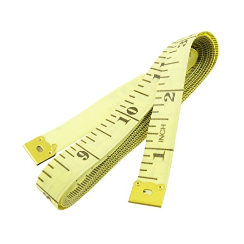 uxcell 1.5M Tailor Seamstress Soft Plastic Flexible Ruler Measure Tape Yellow