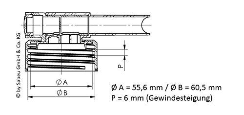3/robinets d/'/écoulement Sabeu Fluxx norme DIN 61/AH 23//61,/pour bidons de 15 /à 60/l
