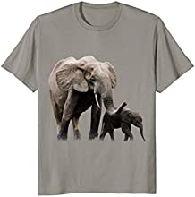 Mother Elephant with Baby Elephant T-shirt