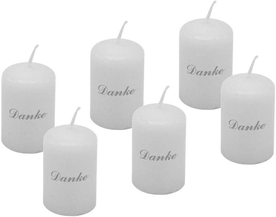 6 velas de pirámide para comunión o confirmación como centro de ...