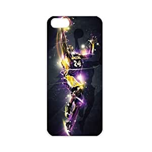 NBA Los Angeles Lakers Kobe Bryant Apple iPhone 5 TPU Soft Black or White cases for basketball Lakers fans (White)