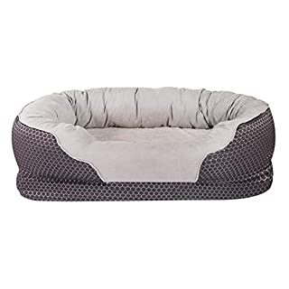 AsFrost Dog Bed, Orthopedic Dog Beds with Removable Washable Cover, Memory Foam Pet Bed for Dogs Cats, Nonslip Bottom Pet Beds for Sleep - Dark Blue (Medium- 32''x 21'')