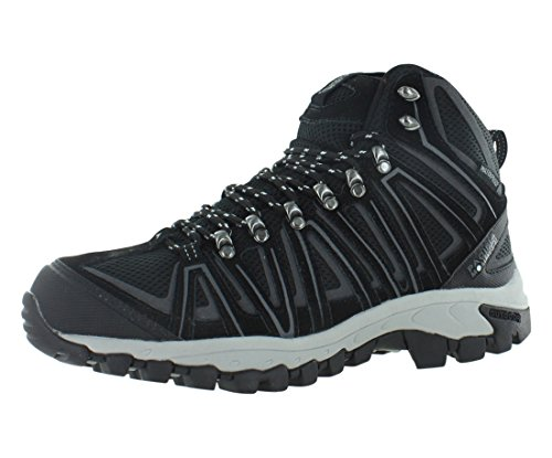 Image of Pacific Mountain Crest Men's Waterproof Hiking Backpacking Mid-Cut Black/Grey Boots Size 10