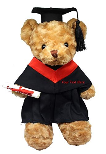 Personalized Custom Text Embroidered Silky Plush Graduation Bear Plush Teddy Bear 15