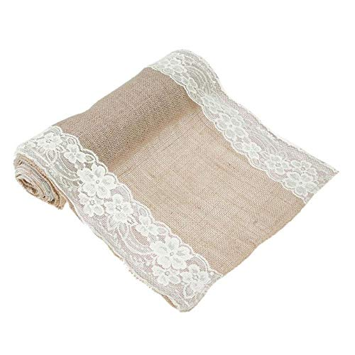 Table Runners - Vintage Burlap Lace Hessian Table Runners Modern Runner Decoration Christmas 30x108cm 30x180cm - Logo Linen Napkins For Dollars Doilies Leather Xmas Yellow Hat