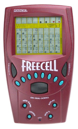 Radica Electronic Game - Handheld FreeCell Solitaire Game - 8019