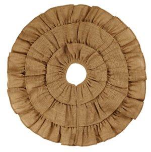 Burlap Triple Ruffle Tree Skirt (36'')
