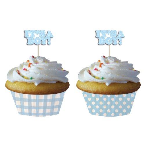 Creative Converting Shower Gingham Cupcake