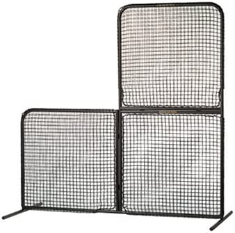 EASTON PRO Style Baseball Pitching L Screen Collapsible Portable 7 FT x 7 FT 2020 Heavy Duty For Field Batting Cage Use Full Steel Frame Knotted Doubled Sided Weather Resistant Netting