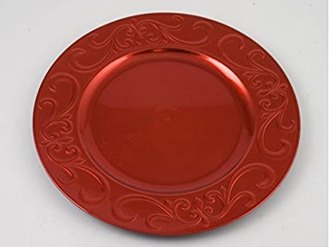 Gerimport Bajo Plato 33cm Rojo  Amazon.es  Hogar e33f09991307