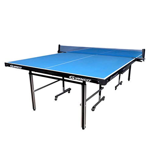 Gymnco Perfect Table Tennis Table With Levellers Top 18 mm (TT Table Cover + 2 TT Racket & 3 Balls)