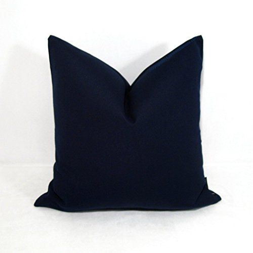 Lux Two  Pieces Bed Soft King  Pillow Cases Navy Blue Color