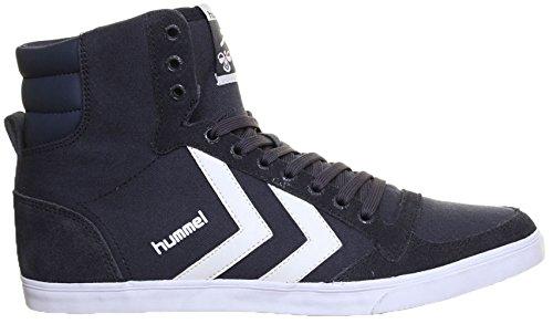 Hummel Slimmer Hi - Sneaker unisex in tela, Blu (Blu), 39.5