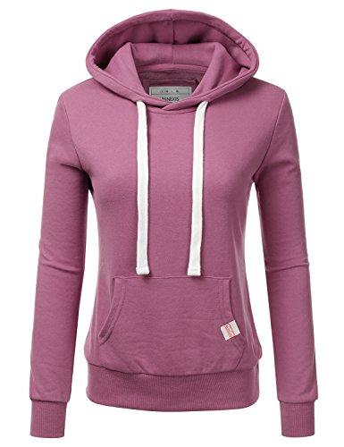 NINEXIS Womens Long Sleeve Fleece Pullover Hoodie Sweatshirts Lightpurple ()