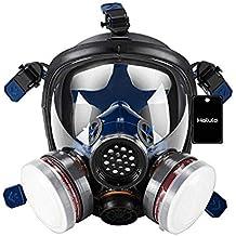 Holulo Organic Vapor Full Face Respirator Respiratory Protection Gas Masks Paint Pesticide Chemical Formaldehyde Anti Virus Full w/ Activated Carbon Respirator