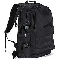 50L Mountaineering Backpack Camping Hiking Trekking Rucksack Travel Bag (Black)
