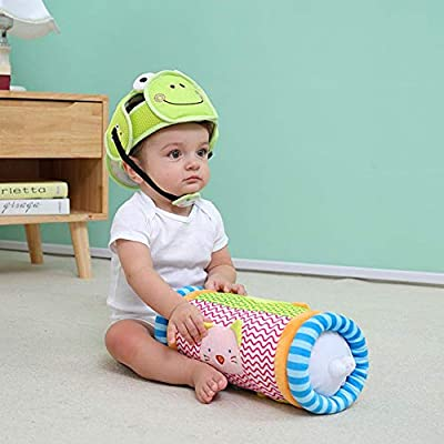 Baby Crawling Roller Multifunction Crawling Roller Pillow Puzzle Fitness Climbing Toy with 2 Bells on Each Side of The Drum aby Steps Roller 13.39in Length: Home & Kitchen