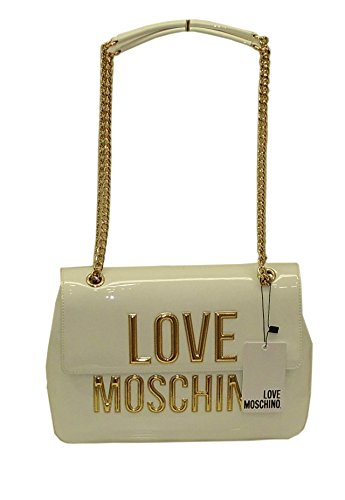 Borsa Love Moschino SHOULDER BAG JC4282 women patent pu BIANCO vernice