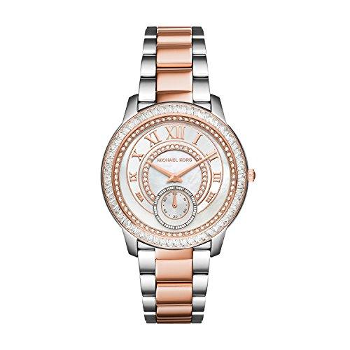 Michael Kors Silver Rose Gold Madelyn Women's Watch - Rose Gold Michael Silver Kors And
